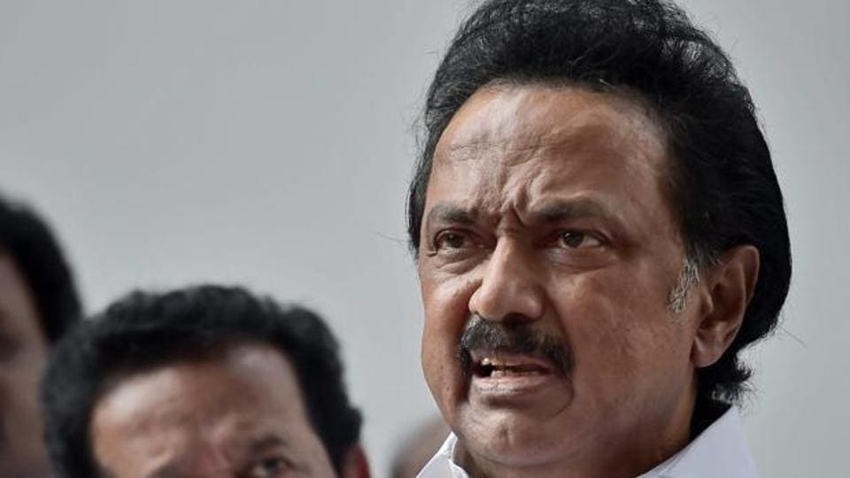 DMK working president and leader of opposition MK Stalin in Chennai.