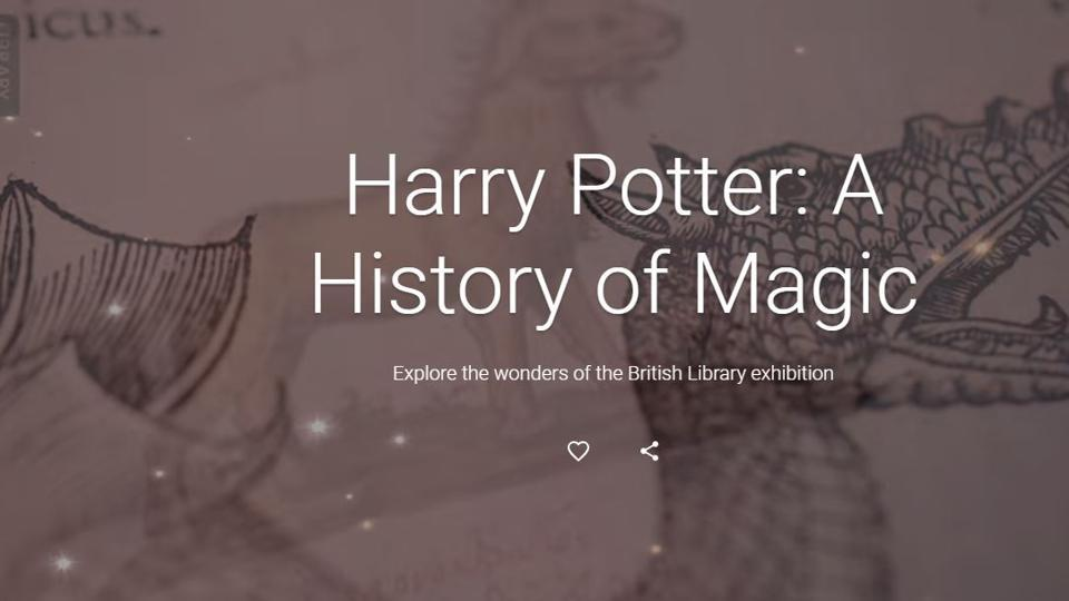 Harry Potter,Harry Potter on Google Arts & Culture,Harry Potter online