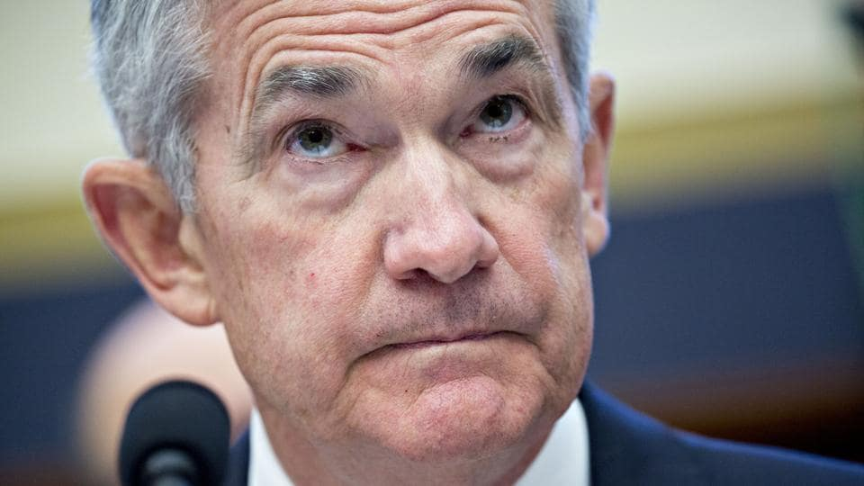 Jerome Powell, chairman of the US Federal Reserve, listens during a House Financial Services Committee hearing in Washington, DC.