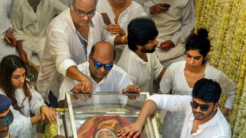 Sridevi,Boney Kapoor,Sridevi funeral