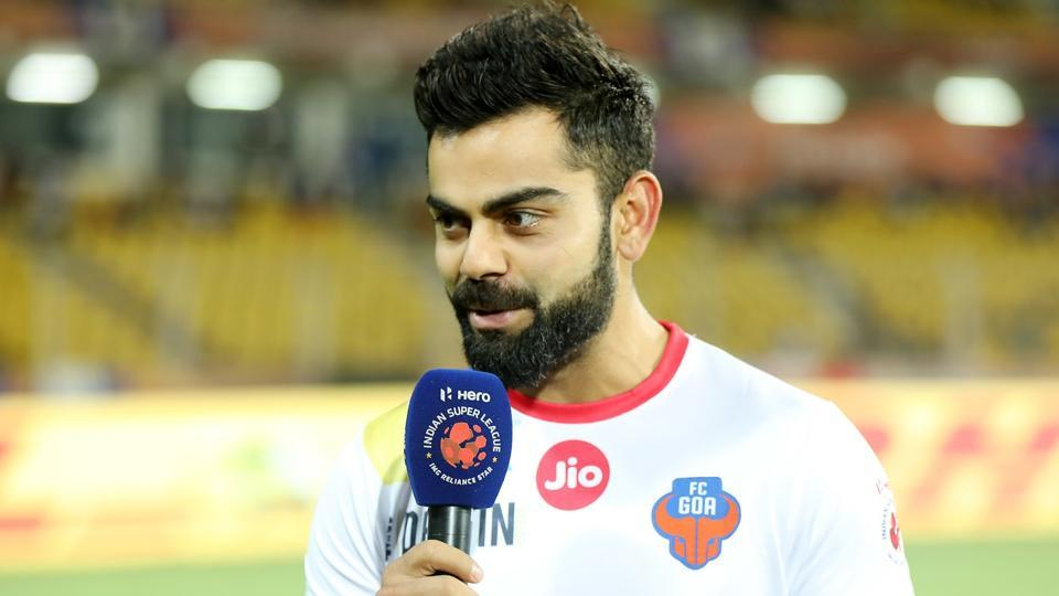 Virat Kohli, Indian cricket captain and co-owner of FC Goa, ahead of the club's Indian Super League clash against ATK.