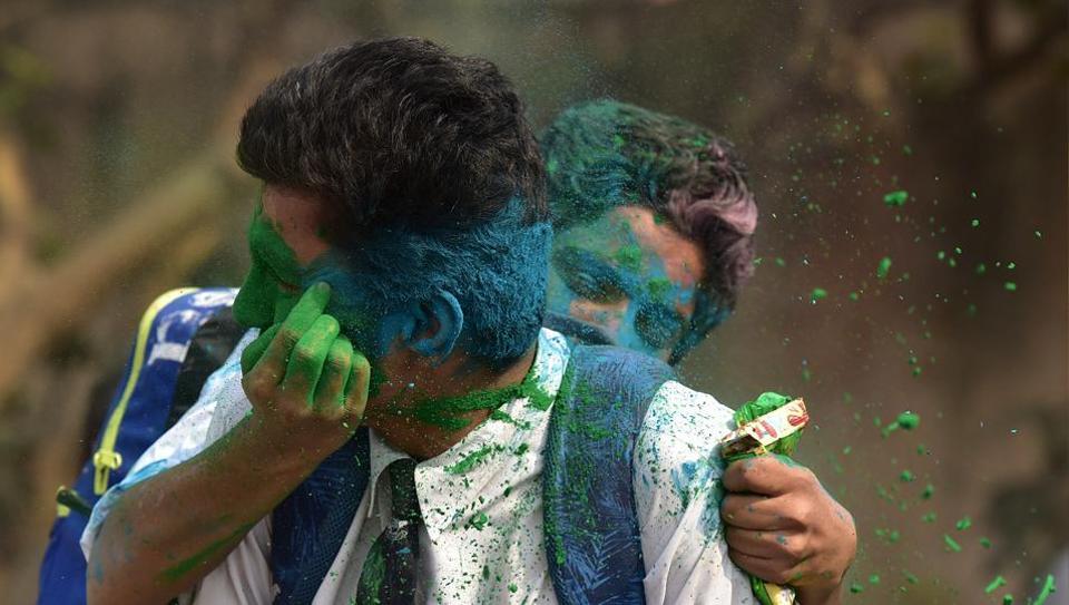 Holi celebrations,Vrindavan Holi,Noid aschools