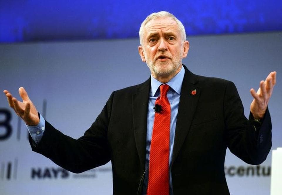 Image result for Britain's main opposition Labour Party leader Jeremy Corbyn