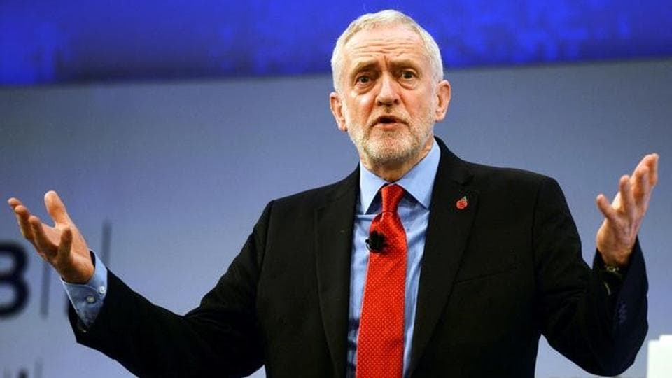 File photo of Jeremy Corbyn, the leader of Britain's opposition Labour Party, at the Confederation of British Industry's annual conference in London on November 6, 2017.