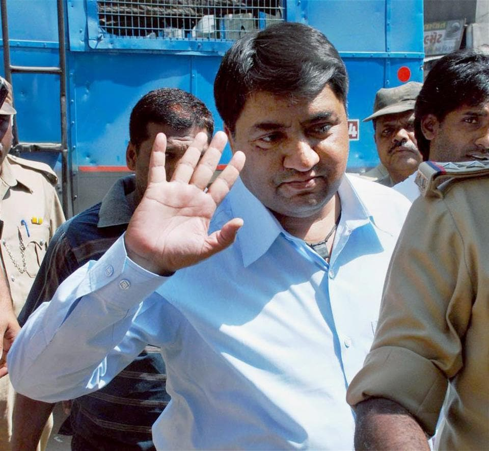 Abdul Karim Telgi, prime accused in the fake stamp paper scam, in Ahmedabad on March 18, 2009.