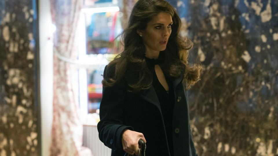 A file shows Hope Hicks arriving at Trump Tower for meetings with Donald Trump in New York.