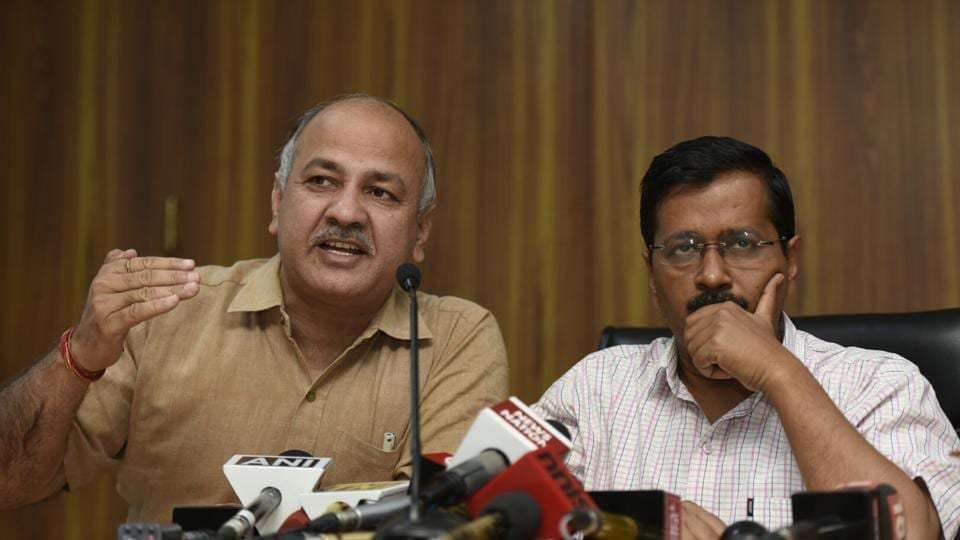 """Arvind Kejriwal and deputy chief minister Manish Sisodia criticised officials for """"resisting"""" the proposal which would enable beneficiaries to get their monthly ration packages delivered at their houses."""