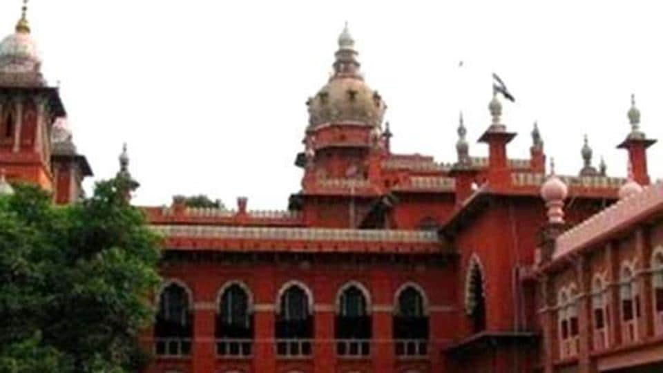 A view of the Madras high court.