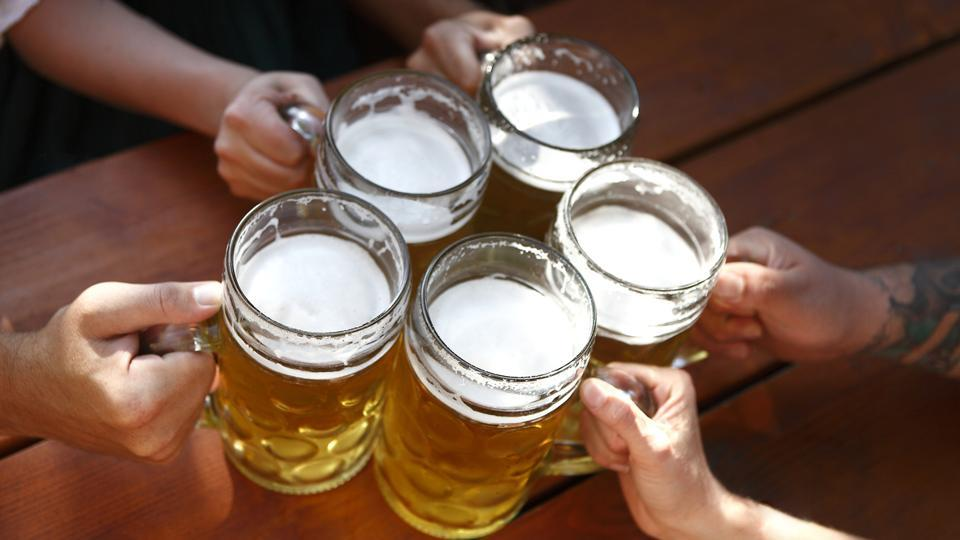 The four main ingredients that make beer are water, cereal grains, yeast and hops.