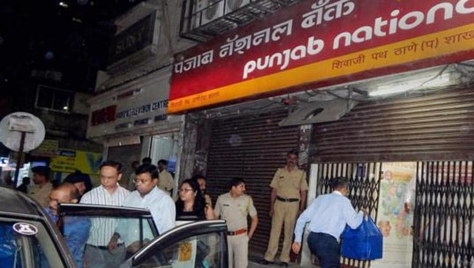 File photo of Enforcement Directorate officials outside a PNB branch in Thane after they seized cash, jewellery and bonds worth several crores during a raid in relation to the Nirav Modi-PNB fraud.