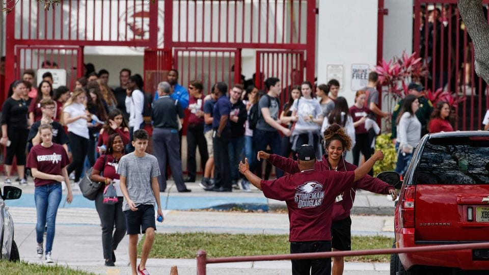 Marjory Stoneman Douglas High School students, staff and teachers returned to their school in Parkland, Florida on February 28, 2018.