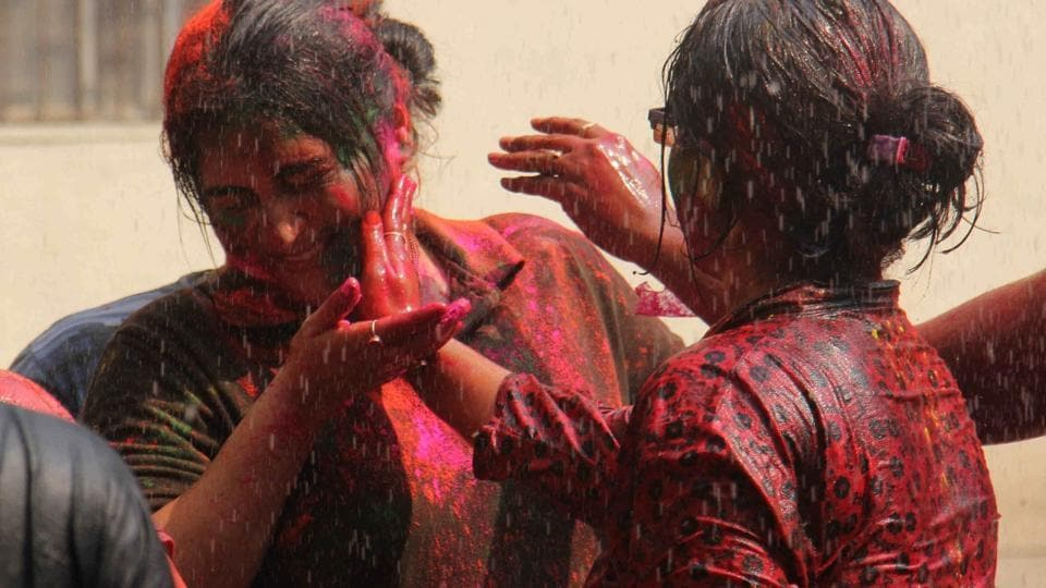 Traditionally, Holi was played only with colour, and the only colour used was gulaal (red), made with natural, organic colours.