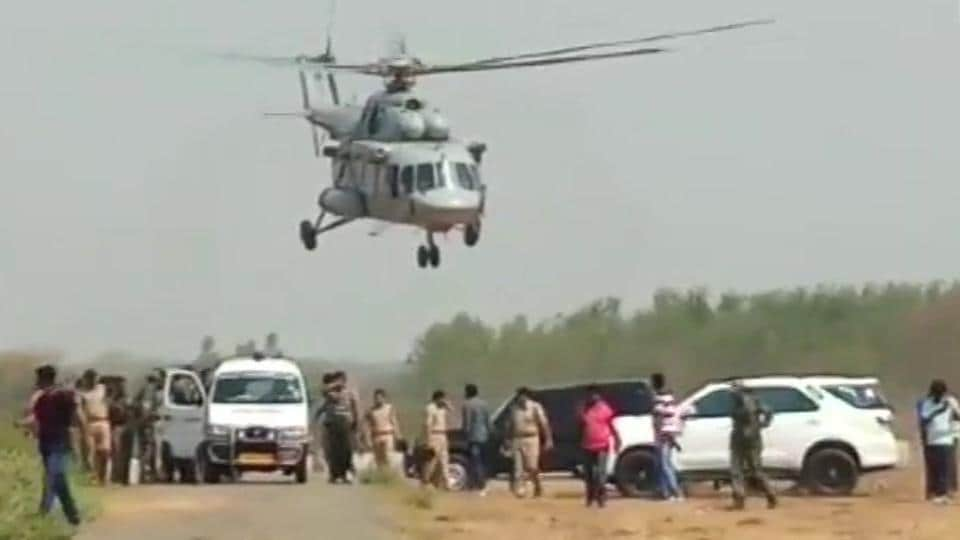 Ten Maoists and a constable of elite commando force Greyhounds were killed in an encounter in forest areas of Chhattisgarh's Bijapur district bordering Telangana, the police said on Friday. This is one of the biggest encounters in recent times and is a big jolt to the Maoist party, said a senior police officer. (ANI)
