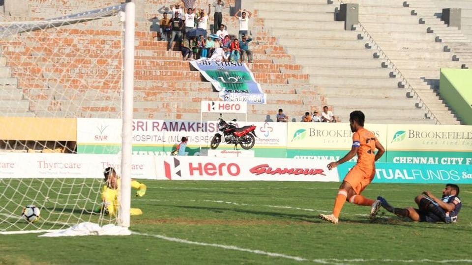 Chennai City FC stunned Minerva Punjab FC 2-1 in the I-League on Friday.