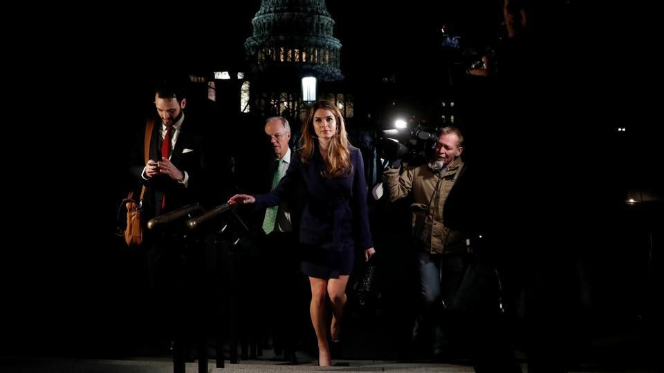 White House Communications Director Hope Hicks leaves after attending the House Intelligence Committee closed door meeting at the US Capitol in Washington, D.C. (Leah Millis / REUTERS)