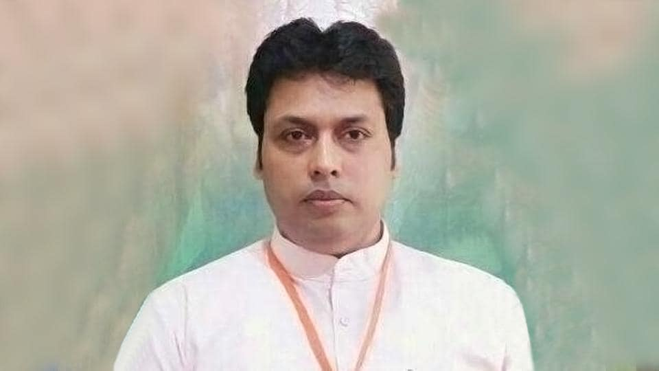 BJP leader Biplab Kumar Deb, 48, could be the next chief of minister of Tripura.