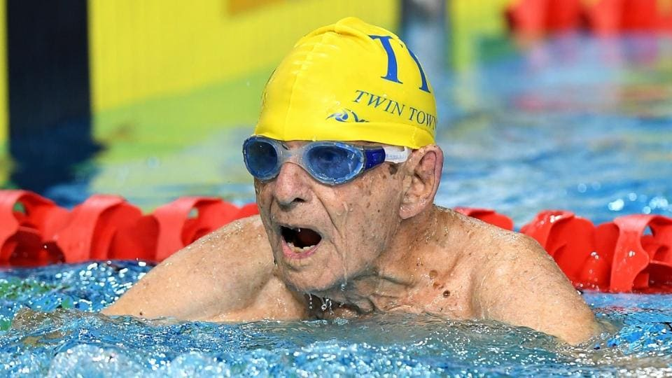 George Corones has broken what is claimed to be the 50-metres long-course freestyle world record for his age group.
