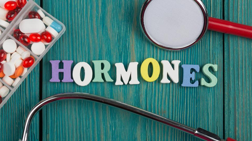 Androgens are hormones that are typically higher in males than in females.