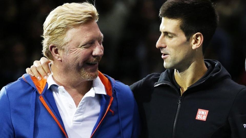 Novak Djokovic,Boris Becker,Roger Federer