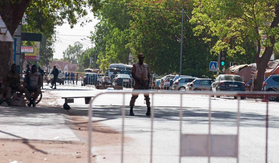 Burkina military HQ,French embassy,Burkina Faso