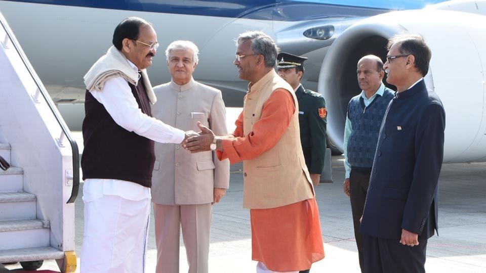 Uttarakhand news,Venkaiah Naidu,Trivendra Singh Rawat