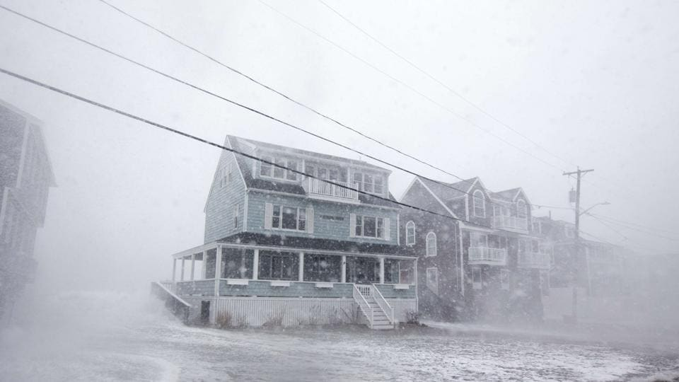 US storm,Massachusetts,Boston