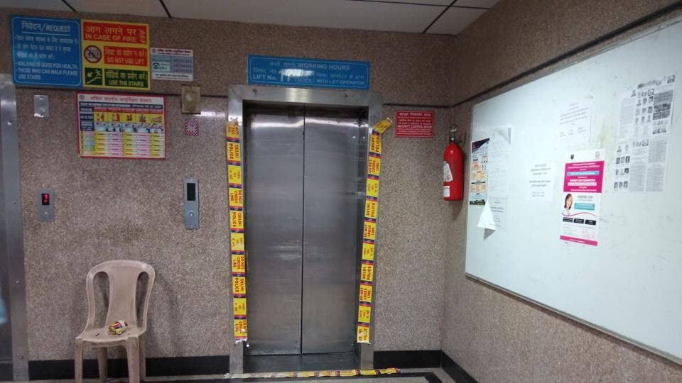 Elevator at Delhi AIIMS crashes from second floor, injuring five