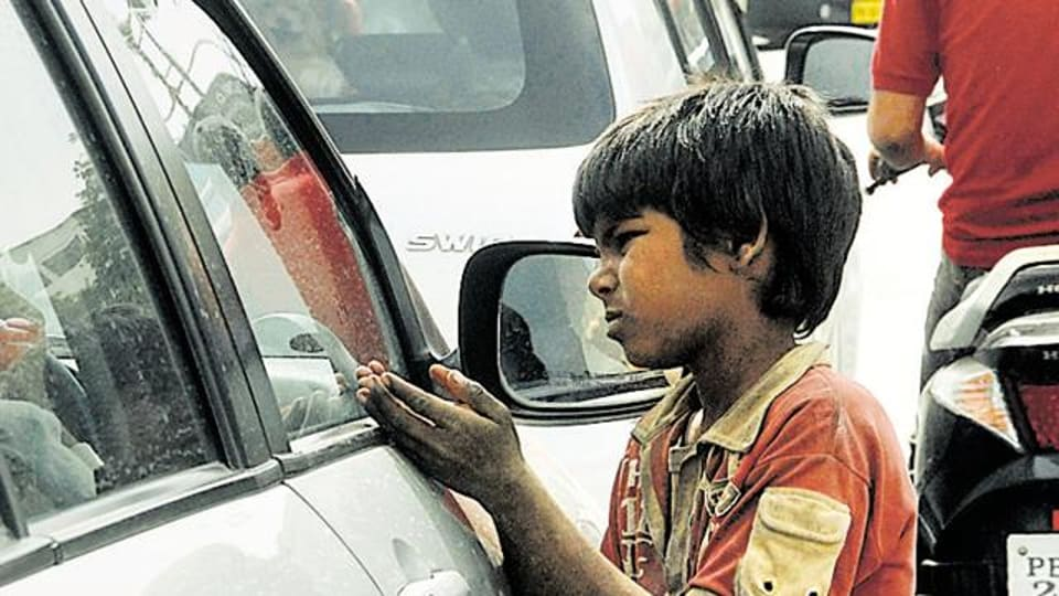 Though begging was prohibited in Punjab through a legislation passed in 1971, child beggars are a common sight at major traffic light points in the state.