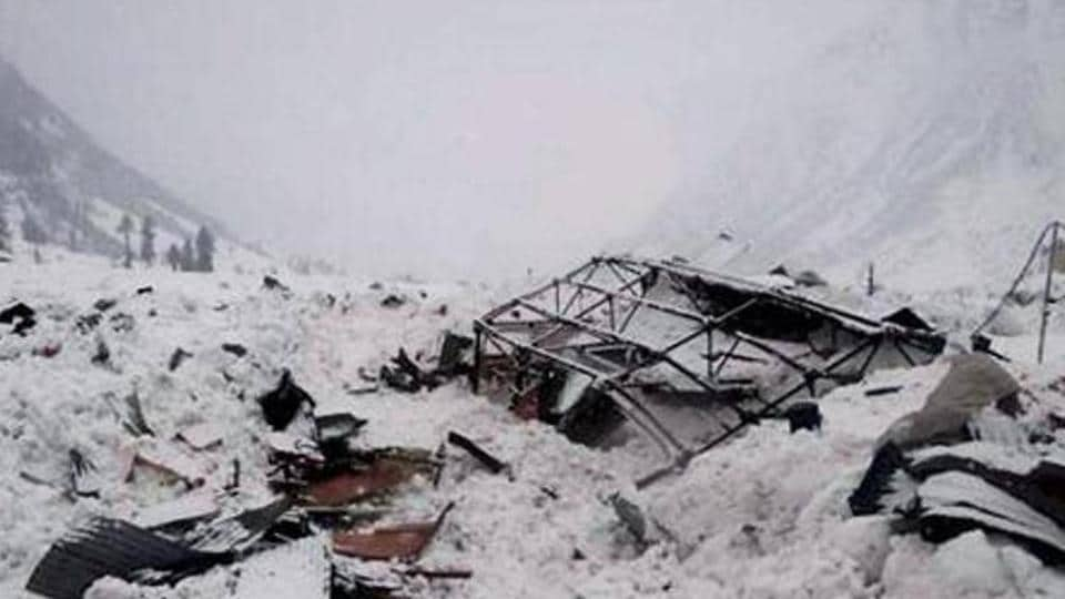 A view of the avalanche site in Gurez sector of Jammu and Kashmir last year.