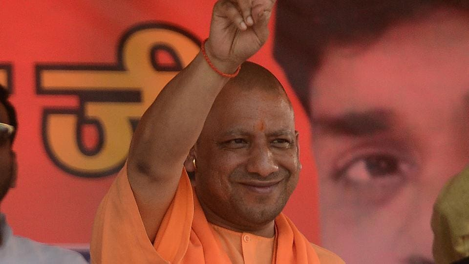 During his campaign trail, Yogi Adityanath visited two Gorakhnath temples at Padampur and Chandrapur.