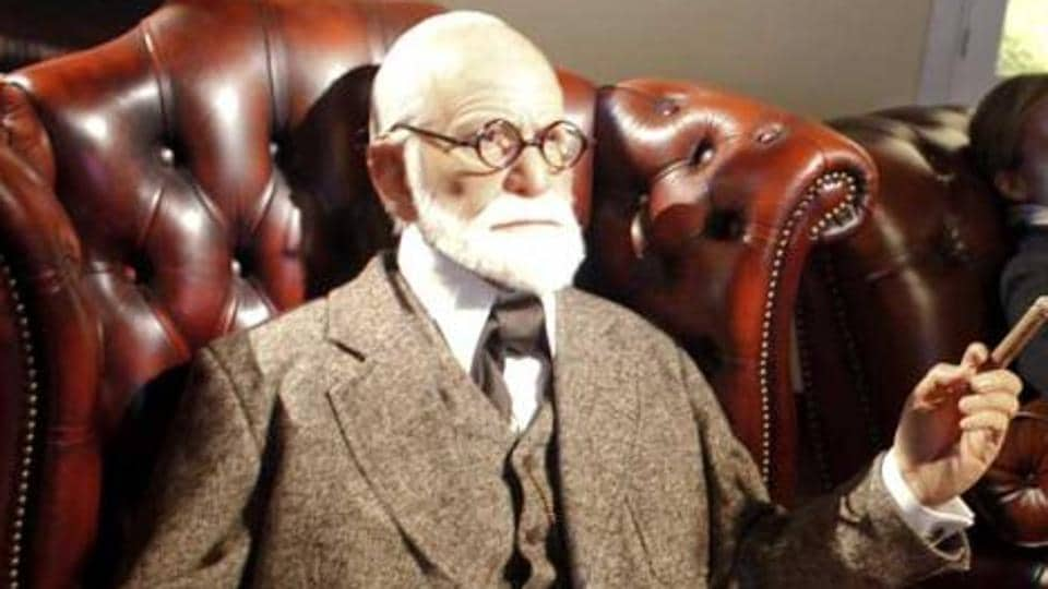 A wax figure of Austrian psychoanalyst Sigmund Freud at the opening of Madame Tussauds in Vienna.