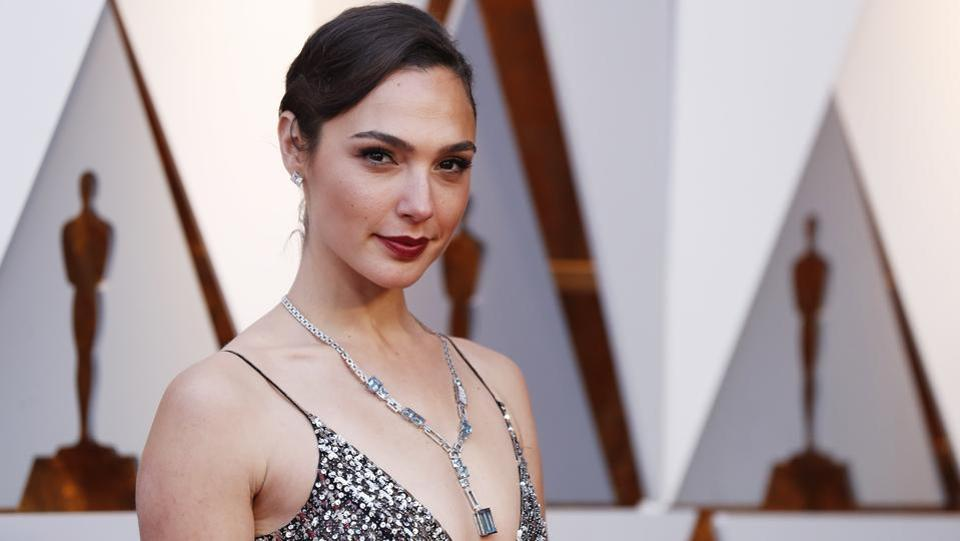 Wonder Woman star Gal Gadot seen at the Oscars. Gal and Armie Hammer later came onto the stage to announce the winner of the Best Hair & Makeup Oscar. As expected, Kazuhiro Tsuji, David Malinowski and Lucy Sibbick won for their incredible work in Darkest Hour. (Mario Anzuoni / REUTERS)