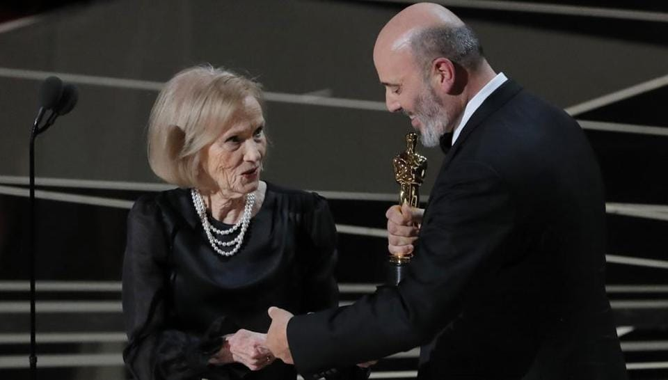 Eva Marie Saint, Oscar winner for the 1955 classic, On the Waterfront, took to the stage to announce the winner of the Best Costume Design award. Mark Bridges won for Phantom Thread, Paul Thomas Anderson's drama about an eccentric dressmaker, which famously marked Best Actor nominee Daniel Day-Lewis' final acting role. (Lucas Jackson / REUTERS)