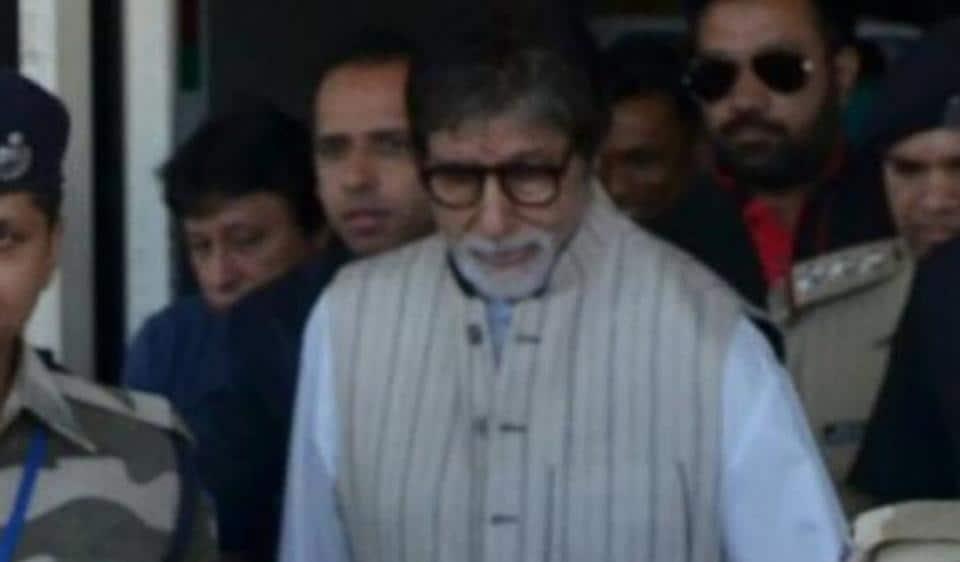 Amitabh Bachchan at the Jodhpur airport.