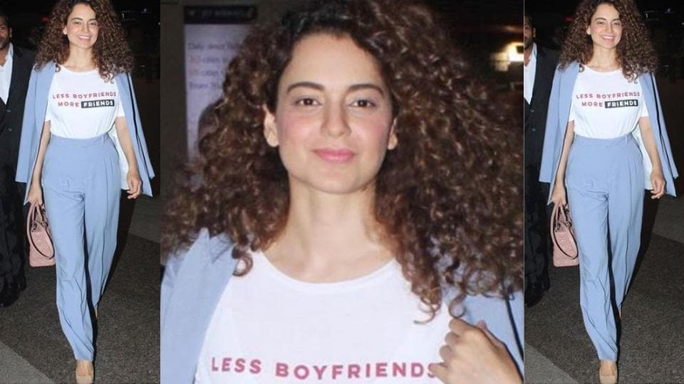 This dreamy look must have been seriously comfy plane-wear for Kangana Ranaut. (Instagram)