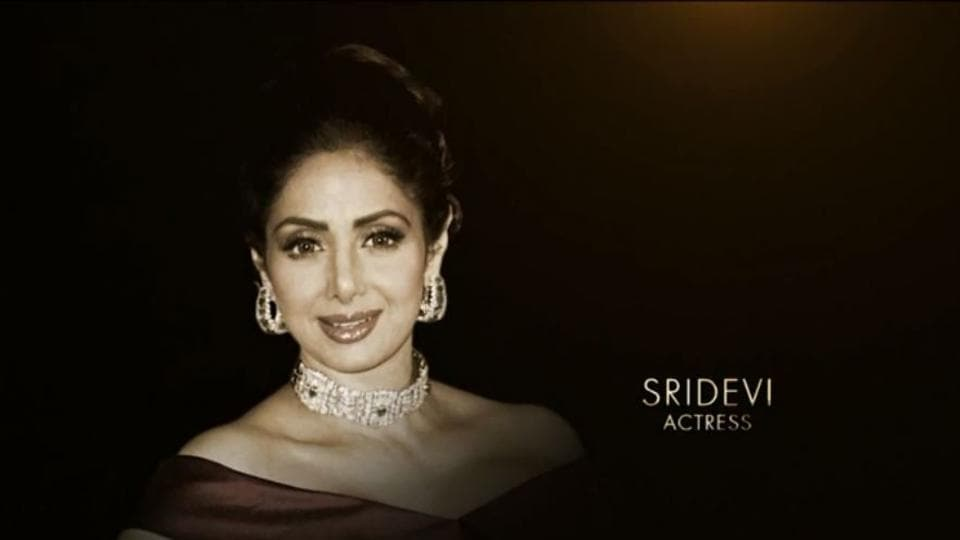Sridevi was honoured at the Oscars.