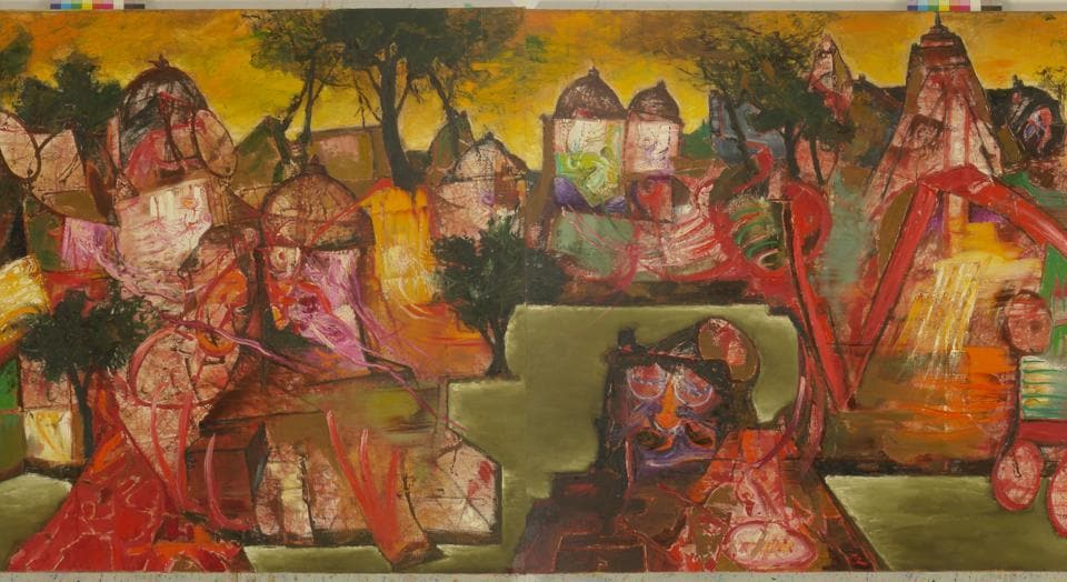 Parekh's paintings provoke viewers to take notice of the world around them through the emotion, pain and anguish expressed in the subjects of his paintings.