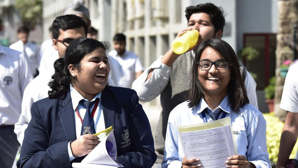 Students Take on CBSE X, XII Exams amidst Tight Security