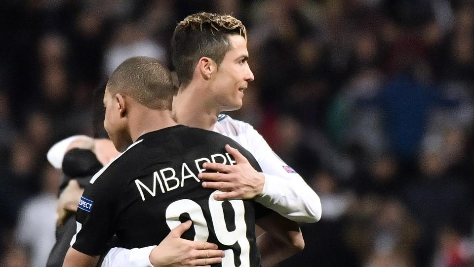 Kylian Mbappe is hoping to help Paris Saint-Germain knock Cristiano Ronaldo's Real Madrid out of the Champions League.