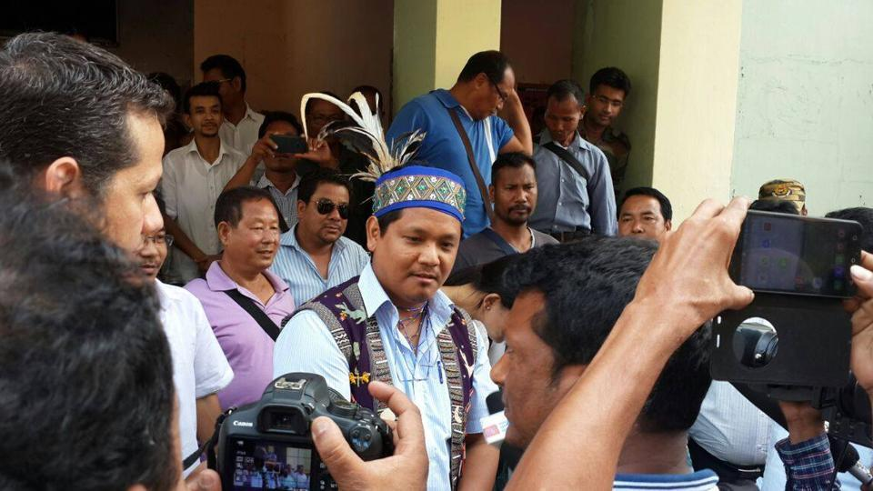 Conrad Sangma will be sworn in as the Meghalaya chief minister on Tuesday.