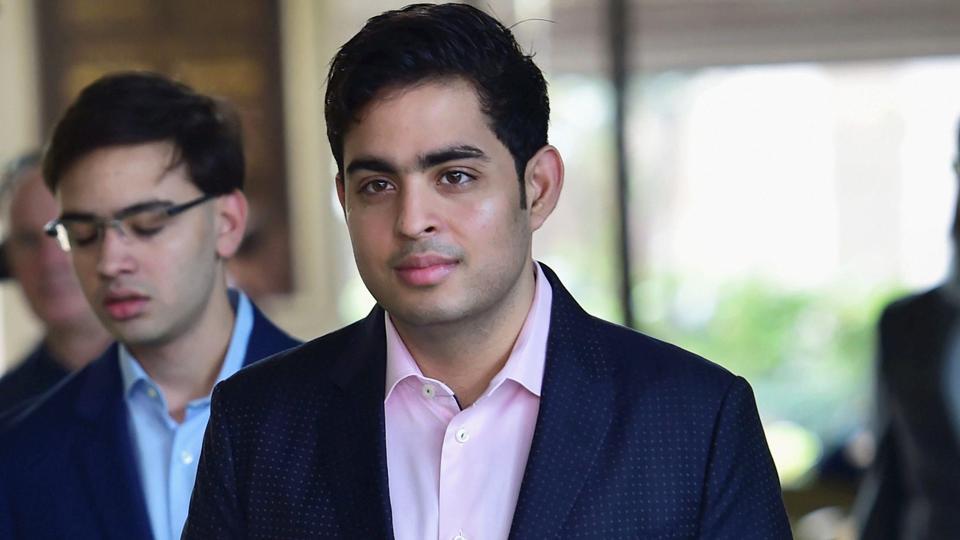 Akash is the eldest son of India's richest man, Mukesh Ambani.