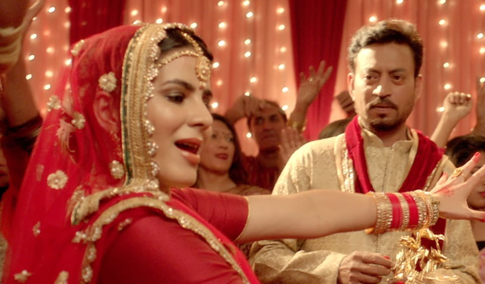 Kriti Kulhari dances at her wedding as the shy groom, Irrfan Khan, watches her in Patola song from Blackmail.