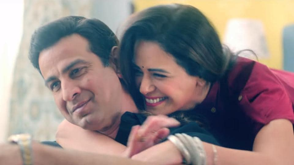 Ronit Roy and Mona Singh in a still from the show.