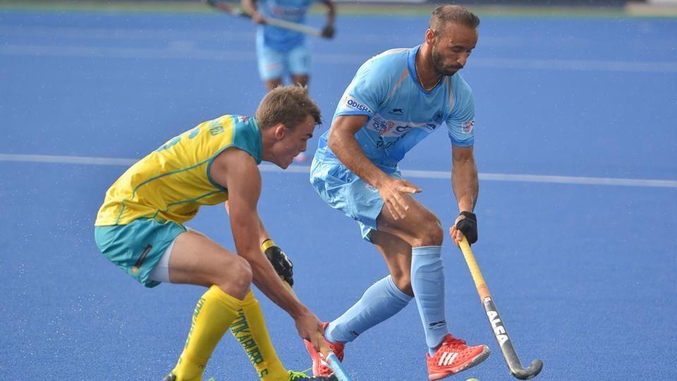 Ramandeep Singh (right) scored a brace for Indian hockey team against Australia in Sultan Azlan Shah hockey.