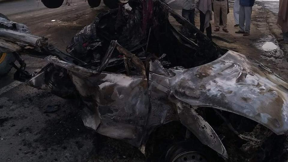 Four of a family burnt alive,family burnt alive,accident