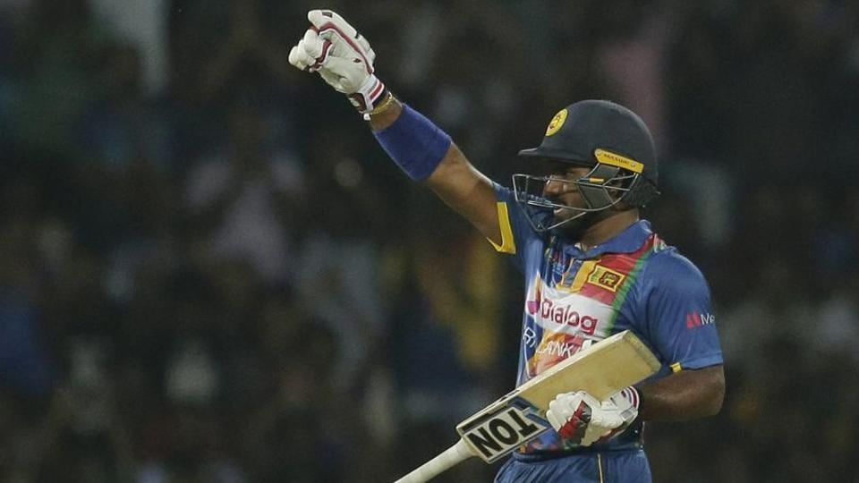 Sri Lanka's Kusal Perera celebrates scoring a half-century against India during their T20 cricket match in Nidahas Trophy in Colombo. Follow full cricket score of India vs Sri Lanka, 1st T20, Nidahas Trophy 2018 here