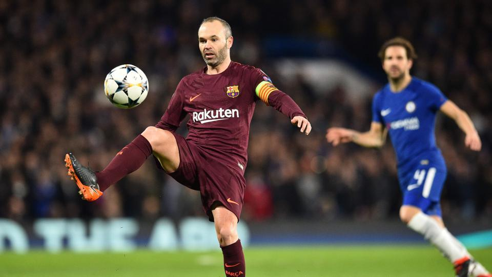 Barcelona's Spanish midfielder Andres Iniesta is unlikely to be available for the second leg of the club's Champions League Round of 16 clash against Chelsea.