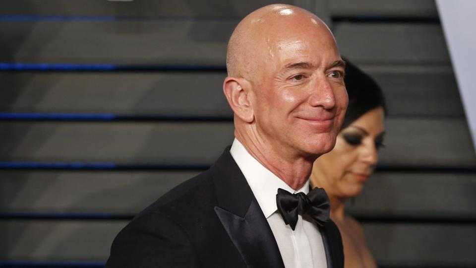 Amazon CEO Jeff Bezos at a party in Beverly Hills, California.
