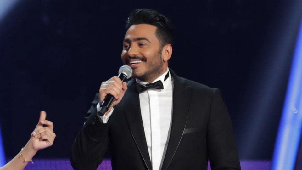 Egyptian singer Tamer Hosny during season two of the 'The Voice Kids: Ahla Sawt' on February 3, 2018.