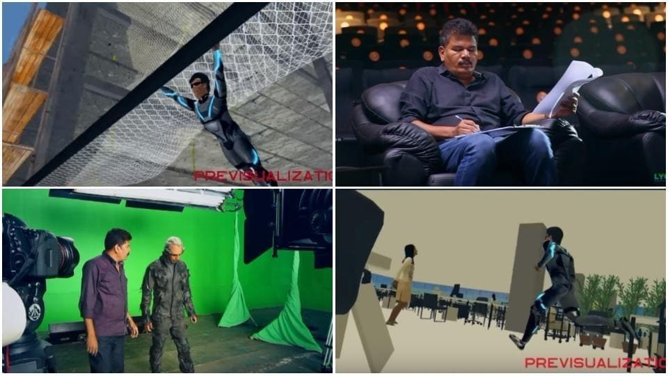 The making of 2.0 VFX featurette: The video features how VFX helped director Shankar make his vision come true.